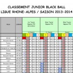 Classement Juniors après T3 2013-2014
