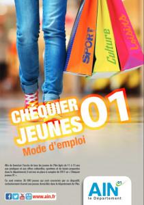 Affiche convention Chéquier jeunes Ain