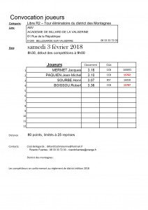 Convocation Joueurs-LR2-finale district-ABV saison 2017-2018