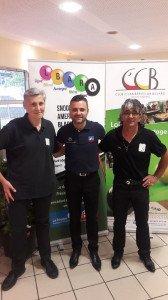 Christophe Lambert, José Duarté et Laurent Donato